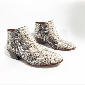 Sam Edelman. Python Petty Roccia ankle boots